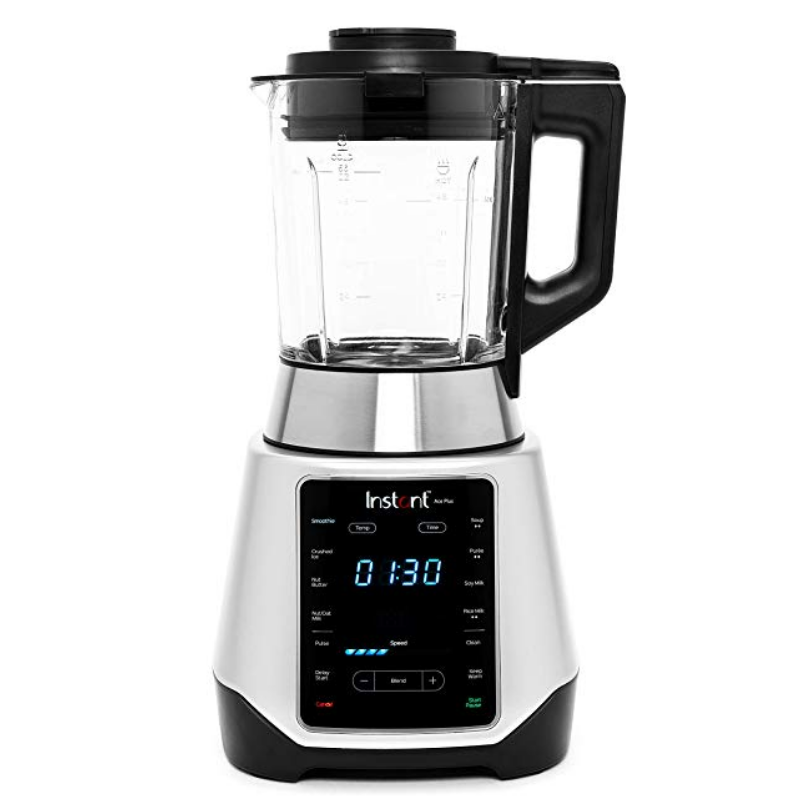 Instant Ace Plus Cooking & Beverage Blender Includes Professional Quality Glass Pitcher with Concealed Heating Element, 8 Stainless Steel Blades, 54 oz, 1300W