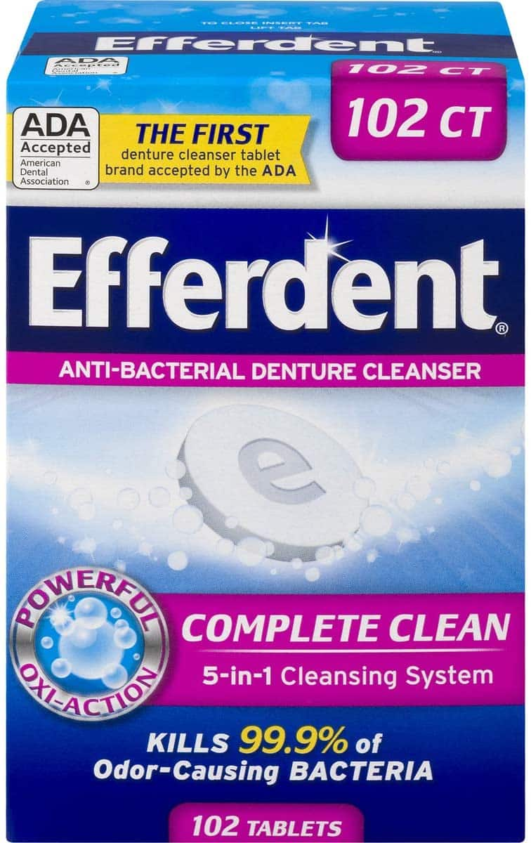 102-Count Efferdent Complete Clean Denture Cleanser Tablets