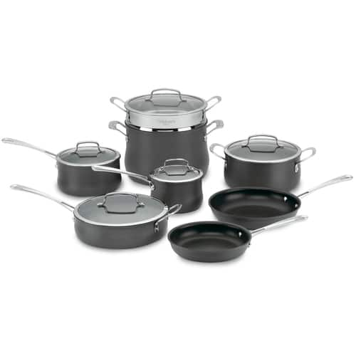 13-Piece Cuisinart Contour Non-Stick Hard Anodized Cookware Set