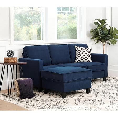 Sam's Club Members: Princeton Fabric Sofa and Ottoman Set (Blue or Grey)