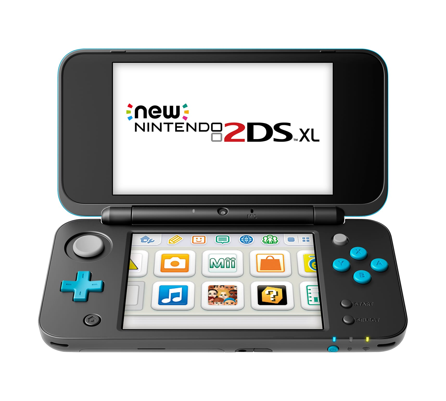 New Nintendo 2DS XL Console w/ Mario Kart 7 (Black/Turquoise)