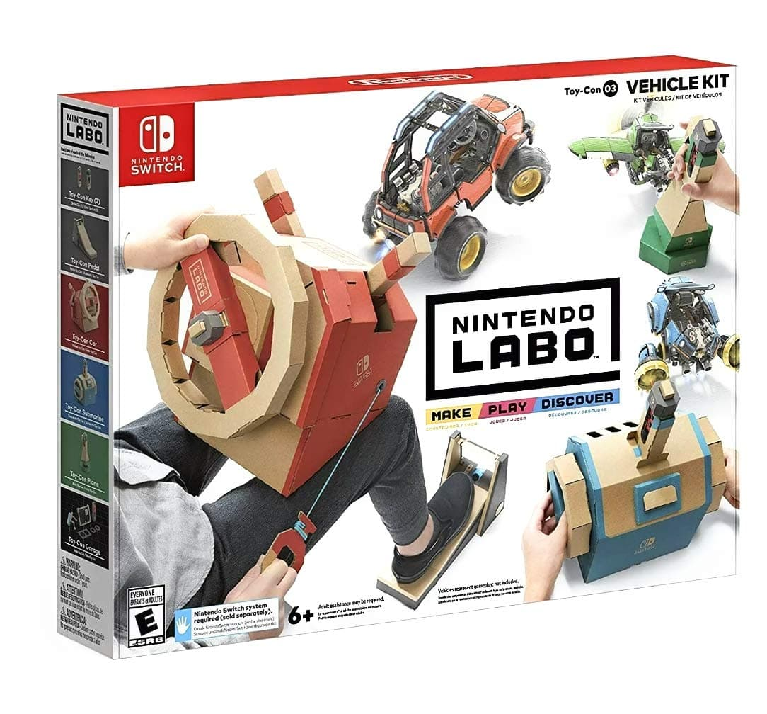 Nintendo Labo Kits (Nintendo Switch): Vehicle Kit, Variety Kit, VR Kit, Robot Kit