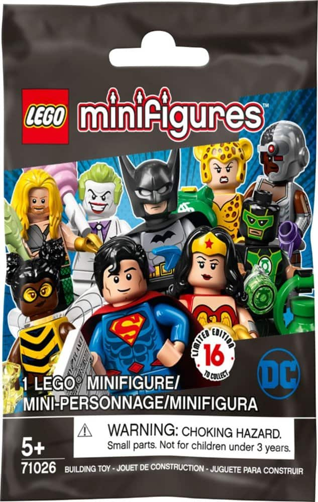 LEGO Minifigures Blind Box: Series 19 $2 or DC Super Heroes