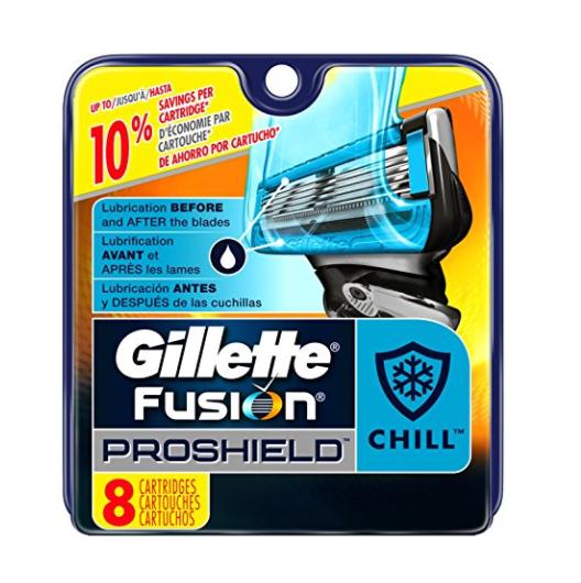 吉列(Gillette) 锋隐致护冰酷刮胡刀片 8刀头装,现点击coupon后仅售