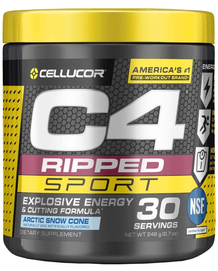 8.7oz C4 Ripped Sport Pre Workout Powder (Arctic Snow Cone)