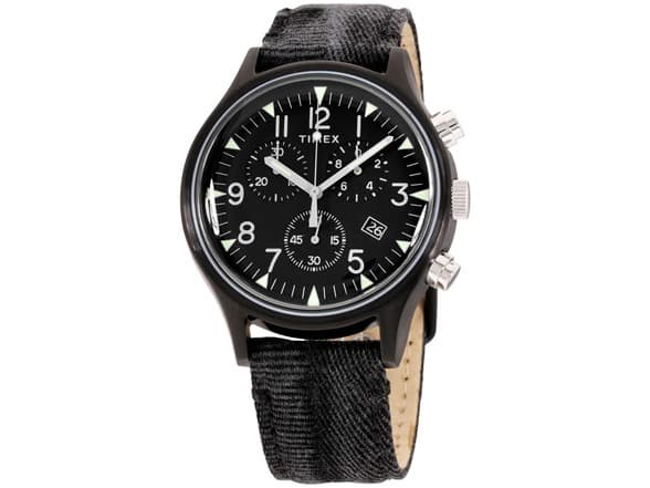Timex Men's MK1 Steel Military Style Fabric Chronograph Watch (Various Colors)