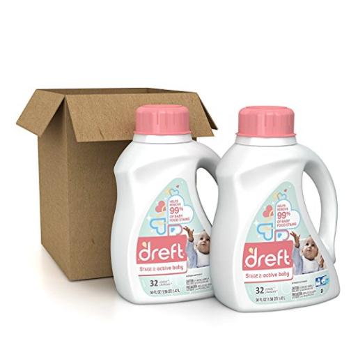Dreft 第二阶段 高效洗衣机 宝宝洗衣液,50 oz/瓶,共2瓶 ,现点击coupon后仅售
