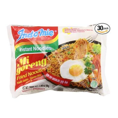Indomie Mi Goreng 方便面 3盎司 (30包)  特价仅售