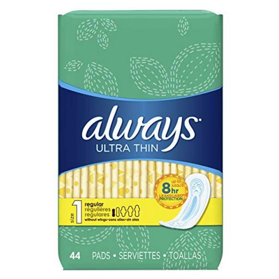 史低价!Always 日用超薄型卫生棉1号, 44片/包,共3包 132片