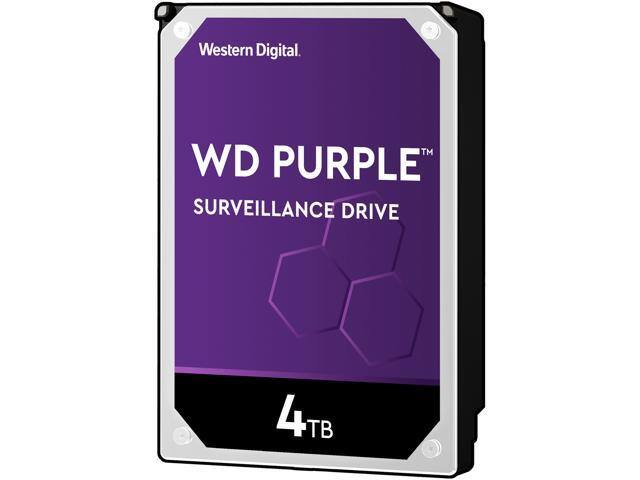 "4TB WD Purple 3.5"" 5400RPM SATA 6Gb/s Surveillance Internal Hard Drive"