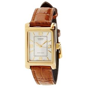 少量补!CASIO卡西欧 LTP-1234PGL-7A女士皮革表带石英手表