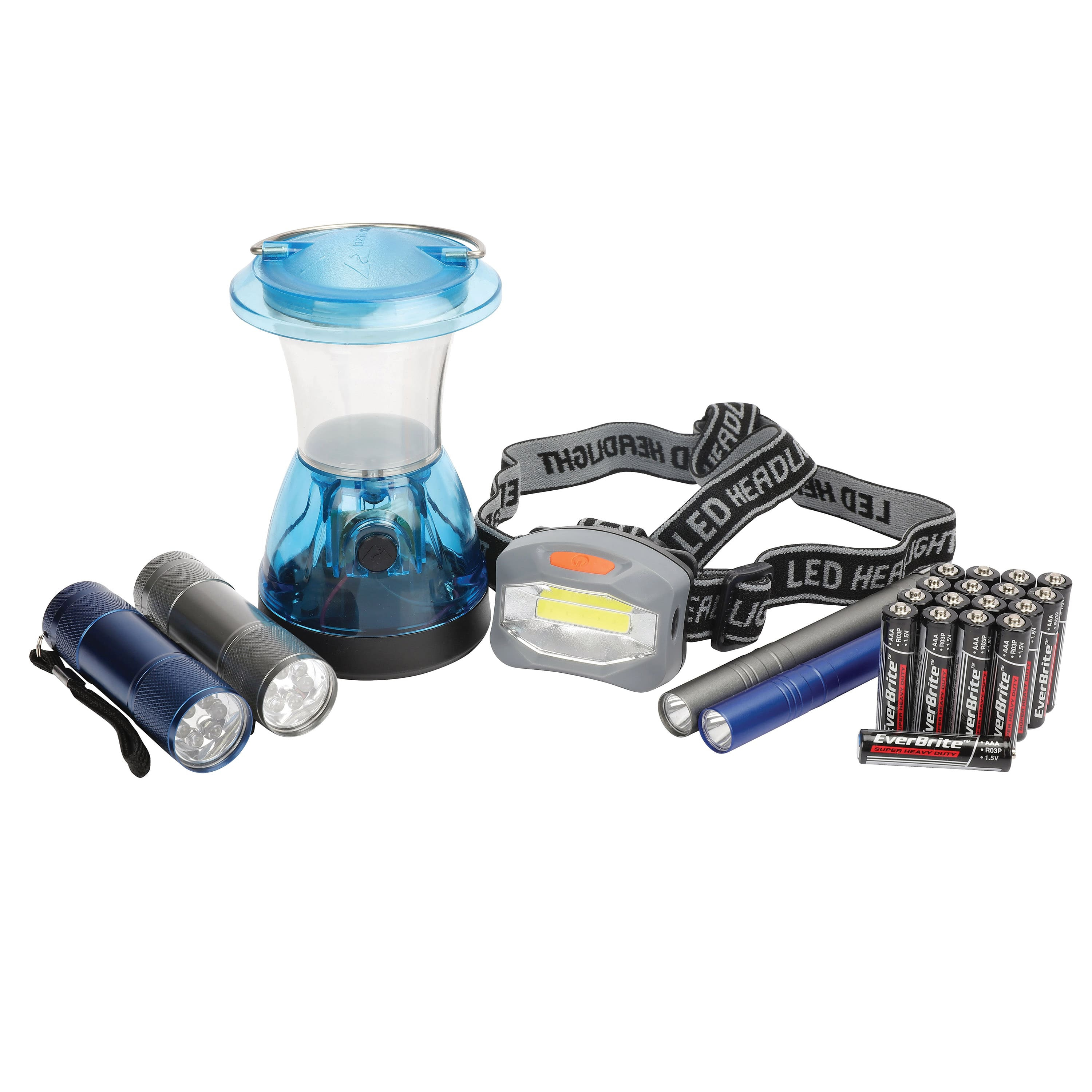 6-Pc Ozark Trail Light Set (2x Flashlight, 2x Penlight, Headlamp + Lantern)