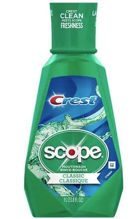 33.8-Oz Crest Plus Scope Classic Mouthwash (Mint)