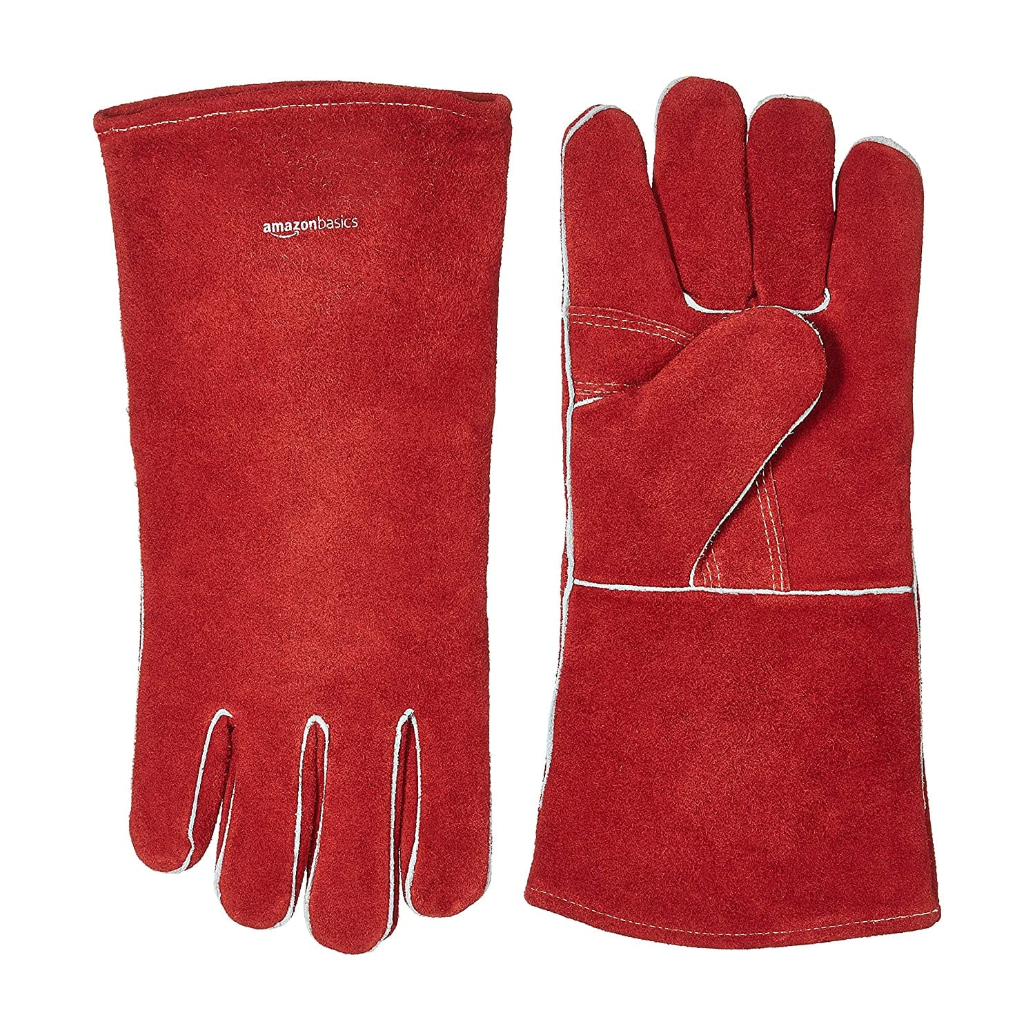 2-Pack AmazonBasics Welding Gloves: Black $4.75, Red