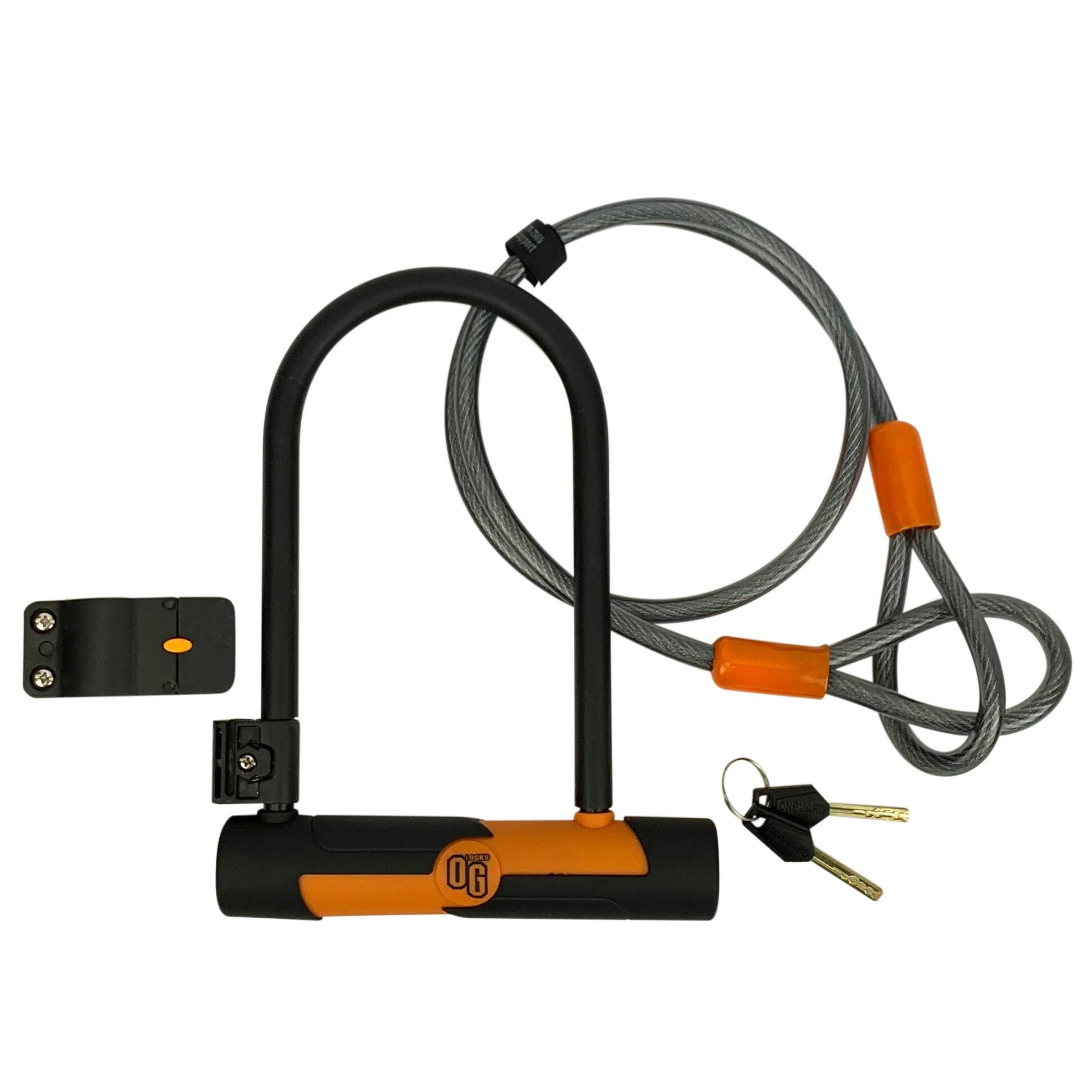 OnGuard Double Team Bike U-Lock and 4' Cable