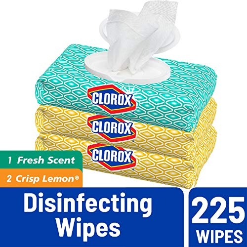 Clorox Disinfecting Bleach Free Cleaning Wipes, Fresh Scent & Lemon Fresh, 225Count