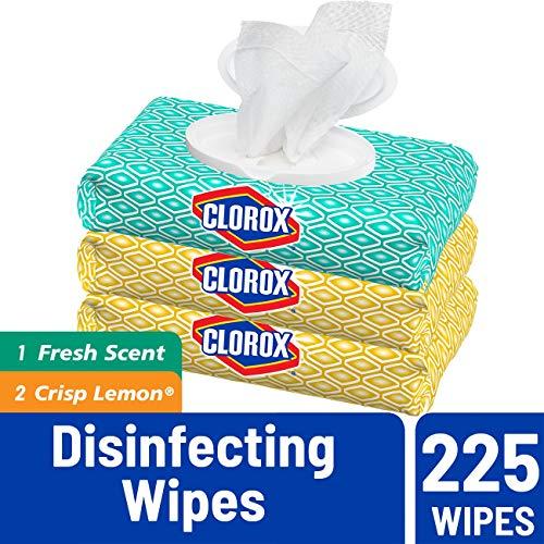 补货!手慢无!Clorox 便携消毒湿巾,3包  共225片,现售价