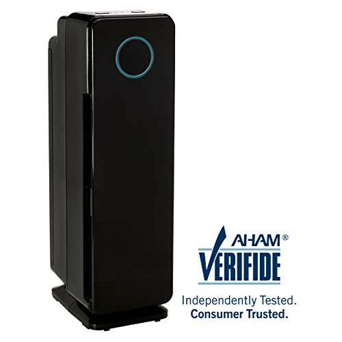 "Germ Guardian Air Purifier True HEPA Filter for Allergies, Pets, Pollen, Smoke, Dust, Germ Guardian UVC Sanitizer Eliminates Germs, Mold, Odors, 22"" 3-in-1 AC4300BPTCA"