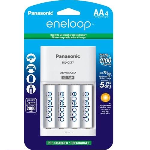 Panasonic松下K-KJ17MCA4BA  4节新一代 AA eneloop电池,带充电器