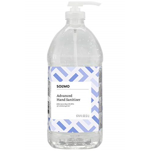 Amazon Brand - Solimo Hand Sanitizer, Original Scent, 67.6 Fl Oz (Pack of 1)