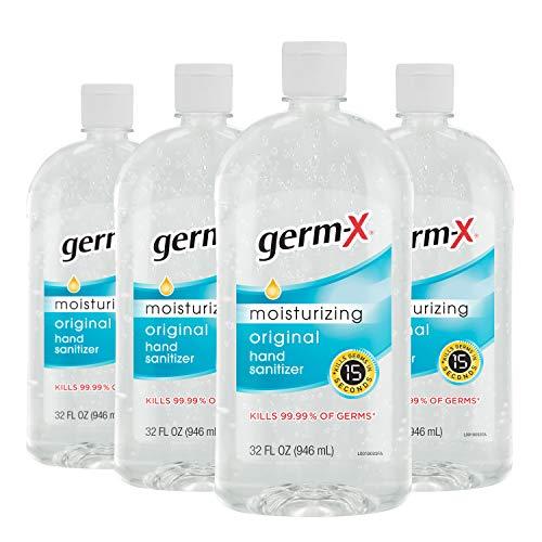补货了!Germ-X 杀菌免洗洗手液大瓶装补货,32 Oz x 4瓶装