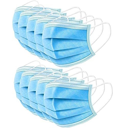 ZAIPP 50 Pcs Industrial mask, blue disposable masks,personal Protection Dust-proof Anti Spittle Eye masks For Earloop