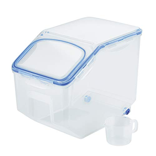 LOCK & LOCK Easy Essentials Food lids (flip-top) / Pantry Storage/Airtight containers, BPA Free, top-50.7 Cup-for Rice, Clear