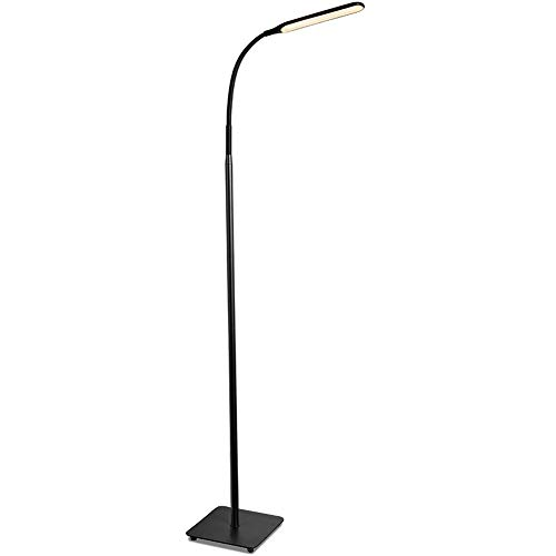 TaoTronics  TT-DL072 LED Floor Lamp, Modern Standing Light 4 Brightness Levels & 4 Colors Dimmable Adjustable Gooseneck Task Lighting for Bedroom Reading Piano Room Black