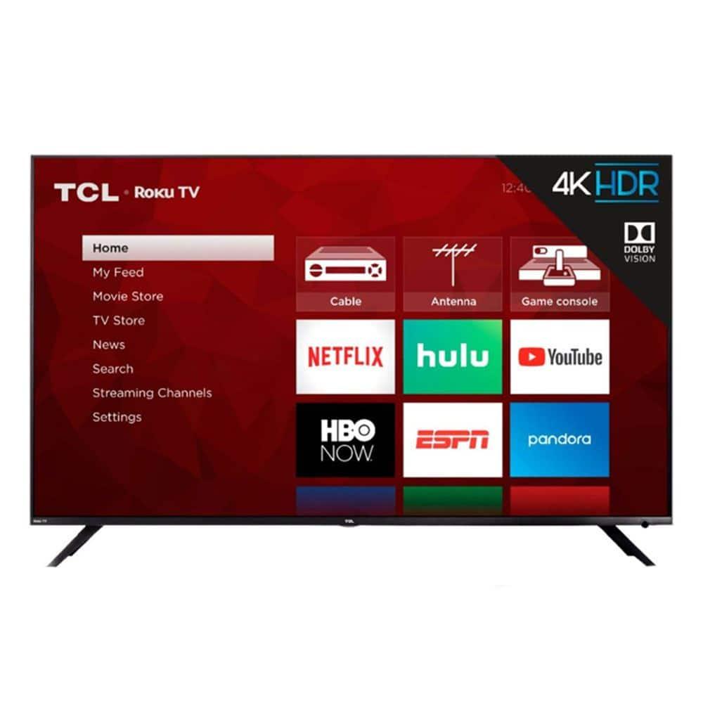 """55"""" TCL 55R613 4K UHD HDR Roku Smart LED HDTV (Refurbished)"""
