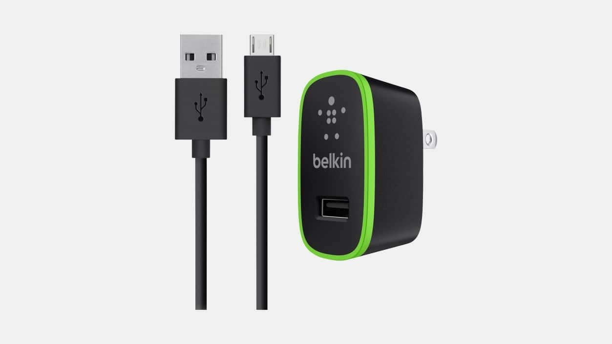 Belkin 10-Watt 2.1 Amp Universal USB Wall Charger w/ 4' Micro USB Cable