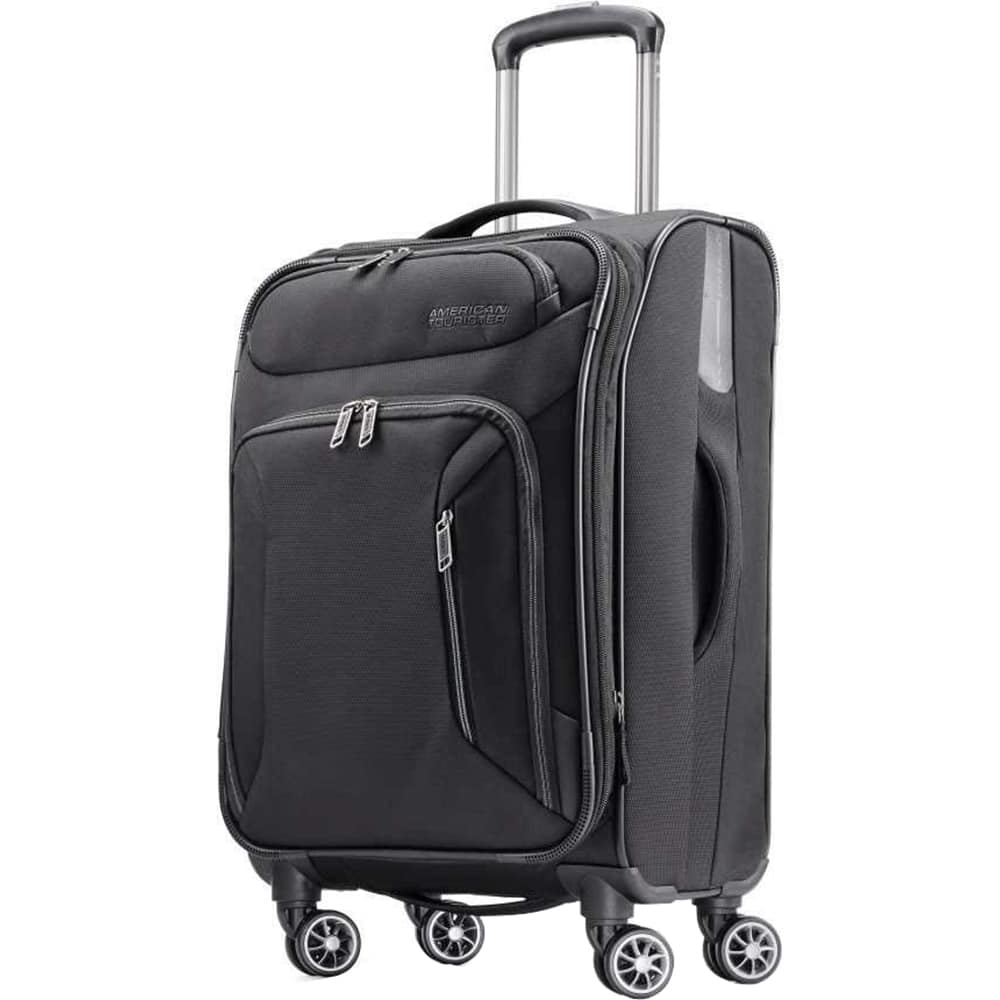 "American Tourister Zoom Expandable Softside Spinner Luggage: 28"" $59 or 25"""
