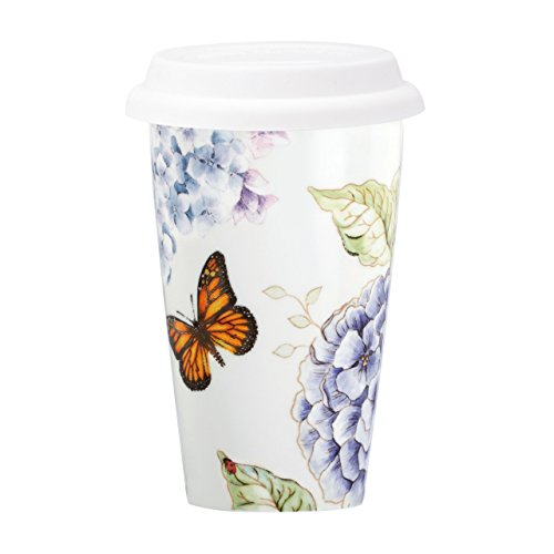 Lenox 846844 Blue Butterfly Meadow Thermal Travel Mug, 1.2 LB
