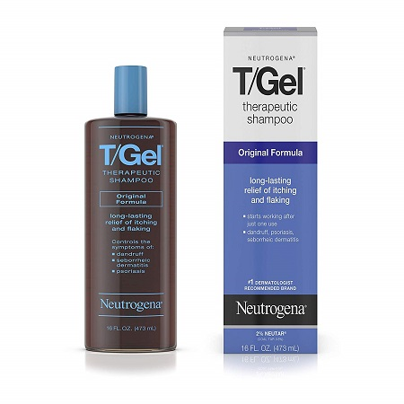 Neutrogena T/Gel Therapeutic Shampoo Original Formula, Anti-Dandruff Treatment for Long-Lasting Relief of Itching and Flaking Scalp, 16 fl. oz.