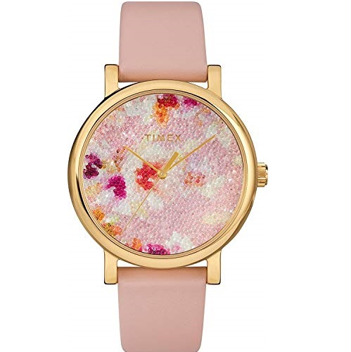 Timex  TW2R66300 Women's Crystal Bloom Swarovski Fabric Dial 38mm Watch