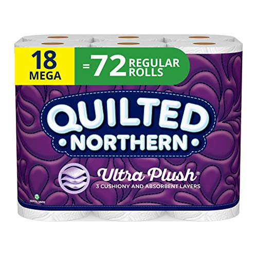 Quilted Northern Bathroom Tissue, Pack of 18, White 18 Count