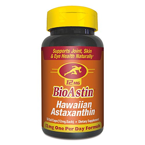 BioAstin Hawaiian Astaxanthin – 50 ct – 12mg Original High Potency One Per Day Formula - Supports Joint, Skin, & Eye Health Naturally –A Super-Antioxidant Grown in Hawaii