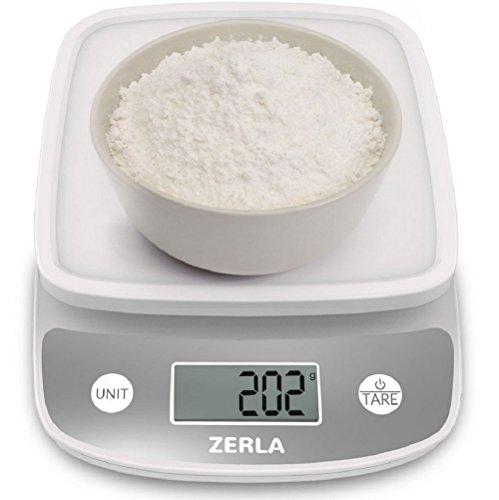 Digital Kitchen Scale by ZERLA , Multifunction Food Scale