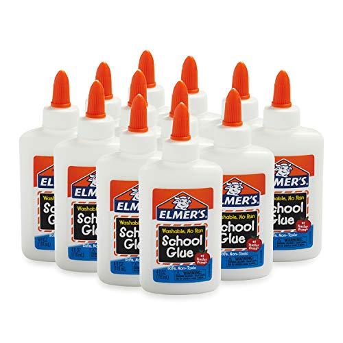 史低价!Elmer's 可洗无痕学生胶水,4 oz/瓶,共12瓶