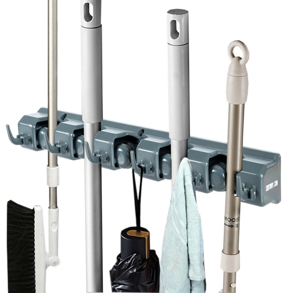 Costway Wall-Mounted Mop Holder