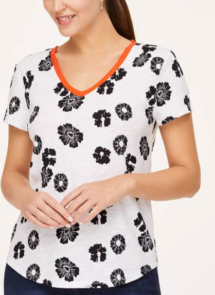 Loft Outlet: Extra 40% Off Clearance Items: Women's Floral Scoop Neck Tee