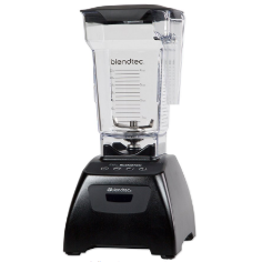 Blendtec Classic Fit Blender with FourSide Jar (64 oz), 30-sec Pre-programmed cycle, High-Low Pulse, Black
