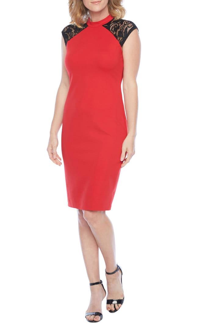 Bold Elements Women's Short-Sleeve Midi Bodycon Dress