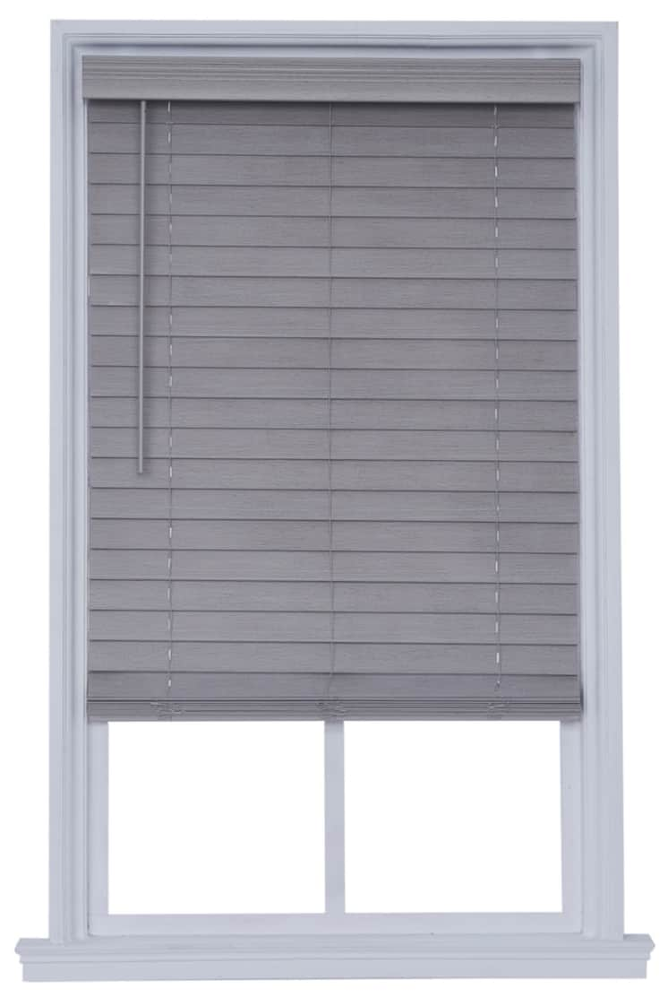 """JCP Home Distressed 2.5"""" Cut-to-Width Cordless Faux Wood Blinds"""