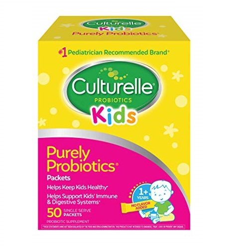 Culturelle Kids Packets Daily Probiotic Formula, Contains 100% Naturally Sourced Lactobacillus GG, 50 Count