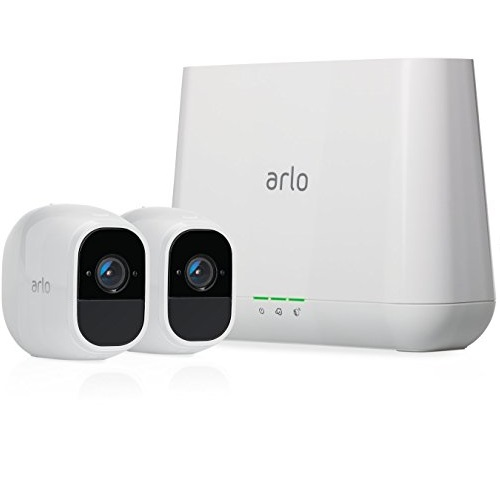 Arlo Pro 2 by NETGEAR Home Security Camera System (2 pack) with Siren, Wireless, Rechargeable, 1080p HD,, Works with Amazon Alexa (VMS4230P)