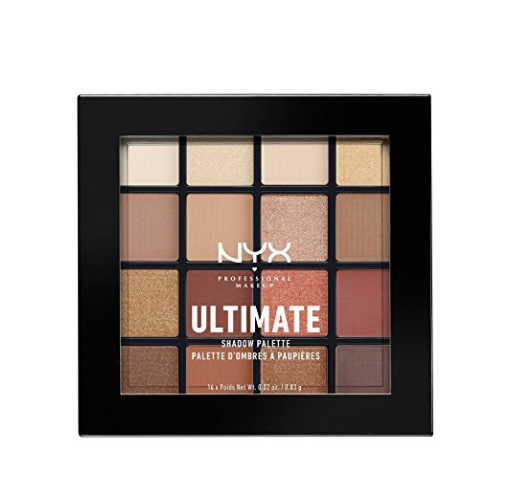 NYX Cosmetics Ultimate Shadow Palette Warm Neutrals,1 Count