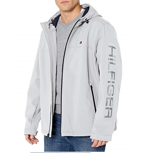 Tommy Hilfiger Men's Soft Shell Performance Hoody Logo Jacket