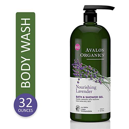 Avalon Organics Bath & Shower Gel, Nourishing Lavender, 32 Fluid Ounce