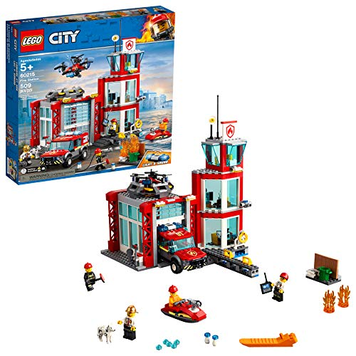 LEGO City Fire Station 60215 Building Kit , New 2019 (509 Piece)