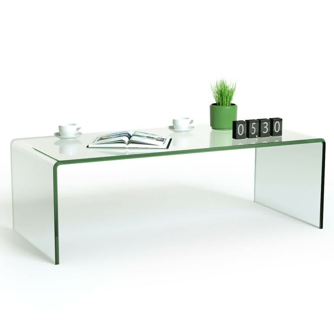 Costway Tempered Glass Coffee Table